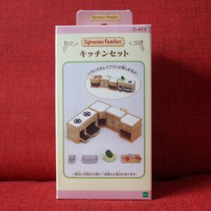 Sylvanian Families KITCHEN SET KA-411 Epoch Japan Calico Critters Retired Rare