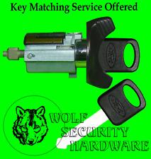 Ford Lincoln Mercury Ignition Key Switch Lock Cylinder Black 2 Ford Logo Keys
