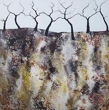 ISABELLE AMANTE «Exploitation brindilles» peinture impressionniste arbres forêt originale