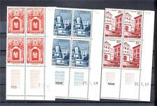 MONACO, BUILDINGS FROM 1959 FOUR BLOCKS OF 4, MINT NEVER HINGED