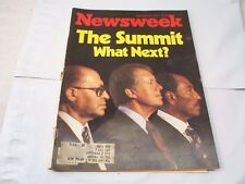 NEWSWEEK JIMMY CARTER THE SUMMIT WHAT NEXT SEPT 25, 1978