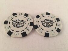 2 golf ball marker Markers Jack Daniel's Poker Chips White Merchandise