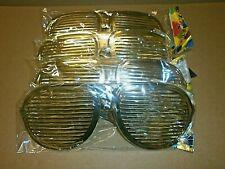 20 x Riesen Gold 26 cm Partybrille Atzenbrille Party Gitter Karneval R 215