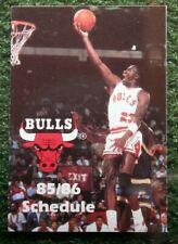 1985-86 Chicago Bulls Ace Hardware Michael Jordan Pocket Schedule