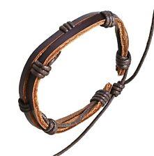 Leather Wrap Bracelet Bangle Braided Rope Multi Layer Cord Jewellery Men Women