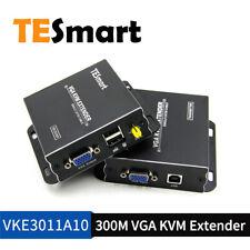 TESmart 300M Network VGA KVM Extender Over Single Cable with CAT5e/6 EDID