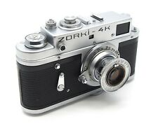 Vintage Zorki 4K 35mm Rangefinder Camera - 50mm F3.5 Lens, UK Dealer