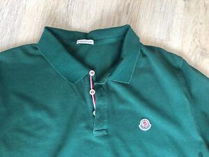 😎* MONCLER * sportives Poloshirt Shirt in Grün Gr. XXXL   😎