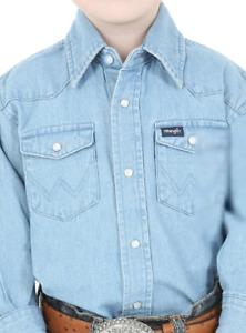 W53214411 Wrangler Toddler Boys/' Short Sleeve Blue Tee LONG LIVE COWBOYS NEW