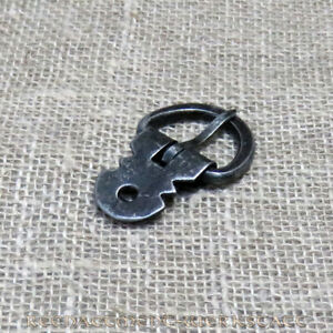 Geschmiedete Eisen-Schnalle mit Nietblech für 2cm Mittelalter Gürtel-Schnalle
