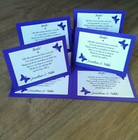 10 wedding disposable camera cards butterfly theme ( more colours available!)