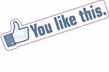 You Like This.. Thumbs Up..  Social Network Sticker Car Laptop Fun Decal