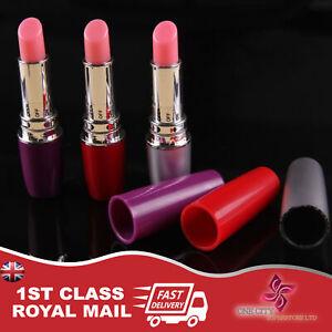 Mini Lipstick Full Body Finger Massager Jelly Vibrating Relaxing Massage