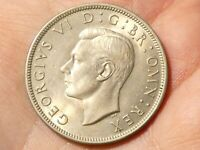1949 British George VI Half Crown Coin #SP45