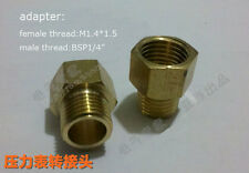 "brass thread adapter for tube,Female M1.4*1.5 to male Bsp 1/4"" matiing screws"