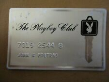 Vintage 1960-70 Hugh Hefner's Chicago Playboy Club Keycard metal membership card