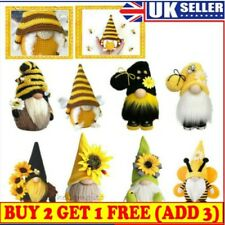 Bumble Bee Gnome Nordic Gonk Tomte Sunflower Swedish Nisse Plush Doll Ornament