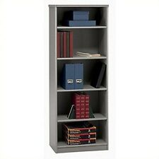 Bush Furniture Series A Collection 26W 5 Shelf Bookcase Pewter NEW