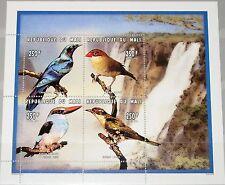 MALI 1996 Klb 1589-92 MS 810 Birs Vögel Fauna Wasserfall Waterfall View MNH