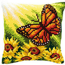 Autumn Butterfly chunky cross stitch cushion front kit. Versace 40x40cm