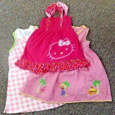 CLOTHING LOT DRESSES-3pcs. GOOGLAD,CHEZ AMI,HELLO KITTY-GIRL'S (Size 5)