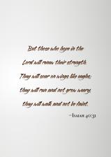 Printable Wall Art Bible Verse Isaiah 40:31 Home Decor Download Digital Image