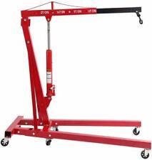2 T Capacity Folding Engine Motor Hoist Cherry Picker Shop Crane Lift red 4000IB