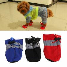 4Pcs/set Dog Boots Shoes Anti Slip Waterproof Puppy Small Pet Soft Rain Boots RT