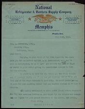 1911 Memphis TN - National Refrigerator & Butchers Supply Co Vintage Letter Head