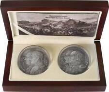 Niue 2012 5$ War Of 1812 Kutusow - Napoleon High Relief 2x 2Oz Silver Coin Set