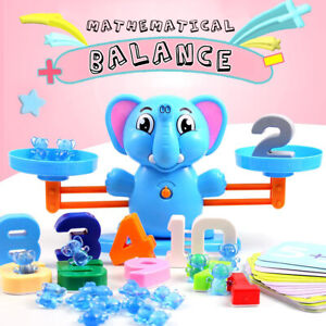 Maths Math Balance Kids Children Toy Educational Counting Number    /O