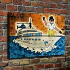 """30x20"""" Alec Monopoly """"Cruising Yacht Polo"""" HD print on canvas rolled up print"""