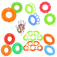 Finger Grip Exerciser Hand Muscle Power Strength Training Rubber Silicone Ring