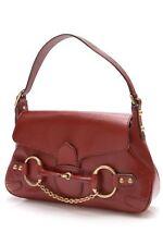 Gucci Horsebit Chain Shoulder Bag - Red