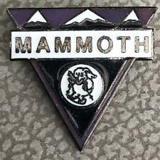 Vintage Mammoth Mountain California Triangle Ski Pin Lapel Souvenir Skiing