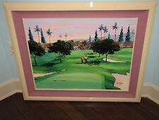 "BRENT HAYES Original Acrylic Painting 23"" x 29"" GOLF"