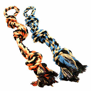 Dog Toys for Aggressive Chewers - Set of 2 XL Dog Rope Toys