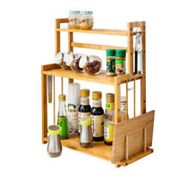 3-Tier Spice Rack Standing Kitchen Bathroom Bottle Storage Countertop Organizer-