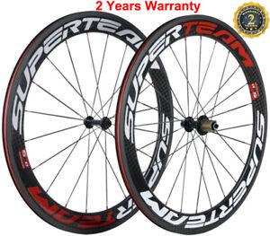 Carbon Wheels 700C 60mm Clincher Road Bike Carbon Bicycle Wheelset 12K Basalt