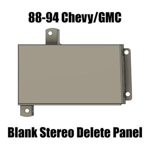 88-94 Chevrolet / GMC C/K 1500 / 2500 / 3500 Blank Stereo Delete Panel