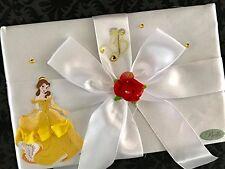 Beauty & The Beast Belle Birthday Rose Satin Guest Book Theme Keepsake