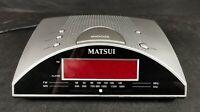 Matsui CR502 LED AM FM LW Band Radio Alarm Battery & Mains Powered