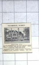 1936 Eight Bedroom House In Weybridge Surrey 1 Acre, £2800