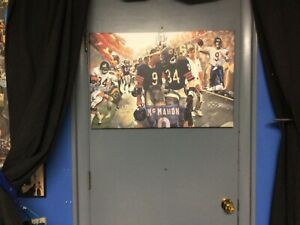30x20 WALTER PAYTON JIM McMahon gallery wrapped CANVAS art  READY to HANG bears