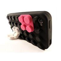 Coque Blocs Blocks Design Noire Pour iPhone 4s / 4
