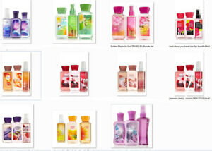 Bath & Body Works Travel Size 88 mL 2PC & 3PC Sets: Mist + Lotion & Shower Gel