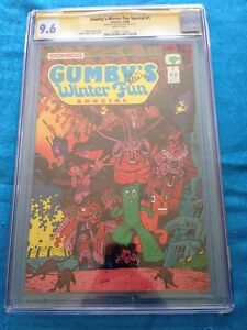 Gumby Winter Fun Special #1 - Dark Horse - CGC SS 9.6 NM+ - Signed by Art Adams
