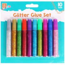 50x Glitter Glue Pens Kids Childrens Sparkly Art Craft Hobby Creative Fun Making