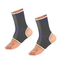 2 x Elastic Neoprene Ankle Support Protection Sport Sock Running Injury Sprain