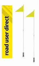 2 x roaduserdirect Vélo Sécurité drapeaux-s' adapte à tous les cycles-Inc suivi Courier
